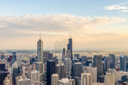 Photo for Aerial view of Chicago. - Royalty Free Image