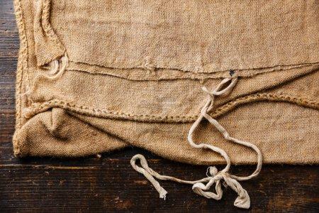 Burlap sacking sackcloth texture background