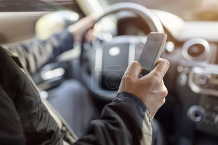Using a phone in a car