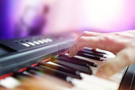 Pianist musician performing