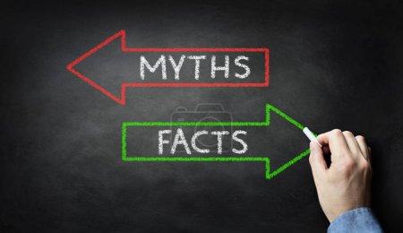 Businessman drawing Myths