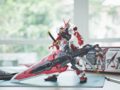 BANGKOK, THAILAND - March 24, 2018: Plastic model of Gundam Astray Red Frame Kai Master grade scale 1:100