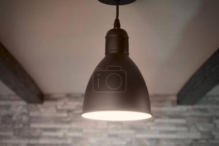 Black lamps in the loft style