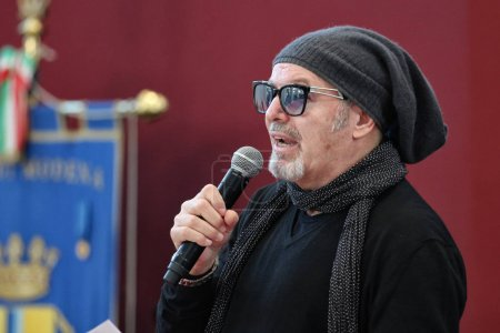 MODENA, ITALY - JANUARY 17 2018 - Conferring honorary citizenship of Modena to the musician Vasco Rossi