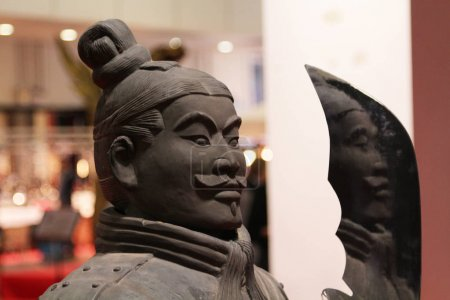 Copy of an ancient soldier statue of the ancient Chinese army