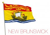 New Brunswick flag Canadian territory