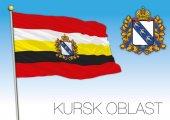 Kursk oblast flag Russia
