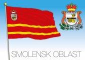 Smolensk oblast flag vector file illustration