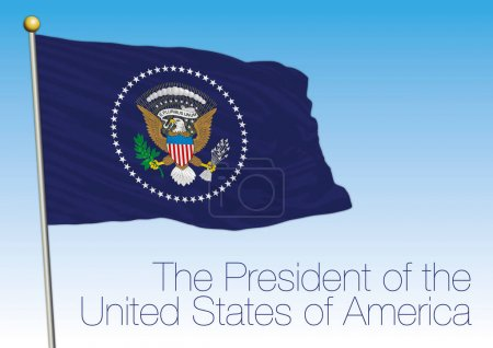 President USA flag, vector file, illustration...