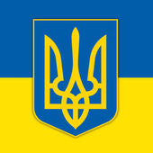 Ukraine coat of arms and flag