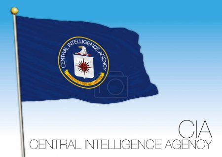 Illustration for CIA flag, vector file, illustration, U.S. government institution - Royalty Free Image