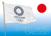 Tokio Olympic Games 2020 logo flag and symbol vector file illustration