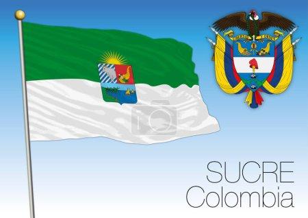Illustration pour Sucre drapeau régional, Colombie, fichier vectoriel, illustration - image libre de droit