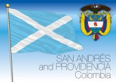 San Andres and Providencia regional flag Colombia