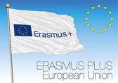 Erasmus Plus flag European Union vector file illustration
