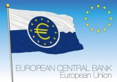 ECB flag European Union vector file illustration