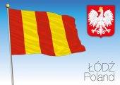 Regionální vlajka Lodz, Polsko