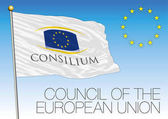 Council of the European Union flag vector file illustration