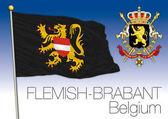Flemish Brabant flag Belgium