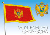 Montenegro flag and coat of arms