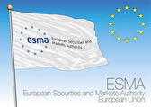 ESMA flag European Securities and Markets Authority vector file illustration