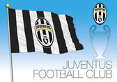 CARDIFF UNITED KINGDOM JUNE 2017 - Final Champions League Cup Flag of Juventus Football Club