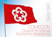 Comecon historical flag 1945 - 1991 vector file illustration