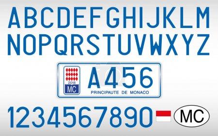 Monaco Principate car plate letters