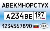 Russia car plate letters numbers and symbols