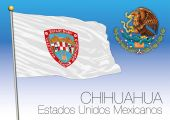 Chihuahua regional flag United Mexican States Mexico vector file illustration