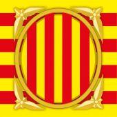 Catalonia government coat of arm vector file illustration