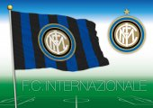 Internazionale FC flag and seal Inter