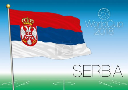 Serbia flag, 2018 World Cup