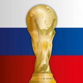 Russia flag 2018 World Cup