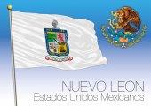 Nuevo Leon regional flag United Mexican States Mexico