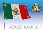 Empire of Mexico historical flag 1863-1867 Mexico