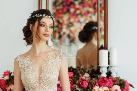 Photo for Gorgeous young woman in elegant wedding dress - Royalty Free Image