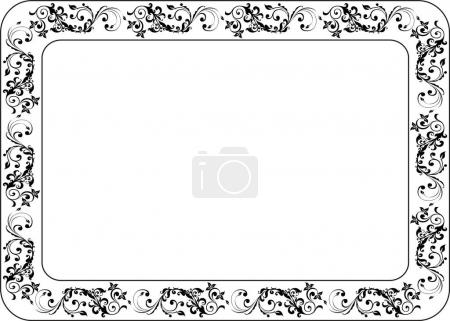 Insulated frame background template for certificate