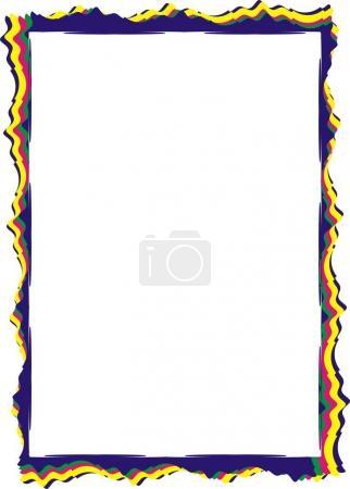 Photo pour Modèle de cadre isolé pour certificat ou diplôme - image libre de droit
