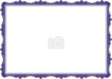 Insulated frame background template for certificate or diploma