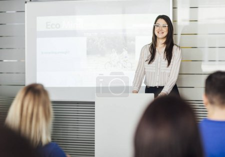Woman Educator Making Presentation
