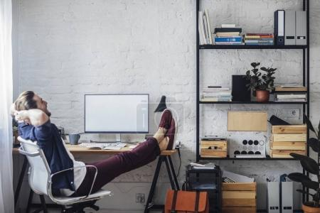 Man Working With Bitcoins