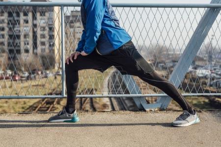 Sportsman Doing Exercise
