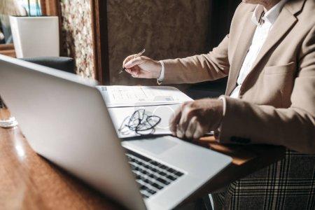 Businessman Writing
