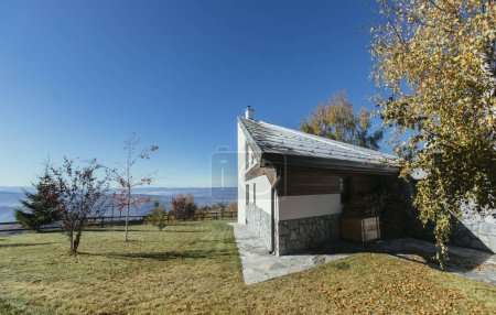 Photo for View of Modern countryside house. - Royalty Free Image