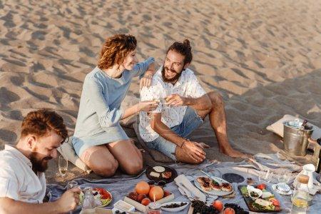 people Drinking on Beach Picnic