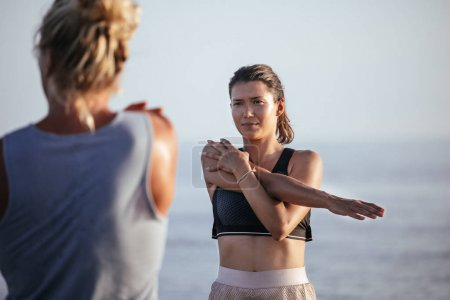 Couple Doing Stretching Exercises Together
