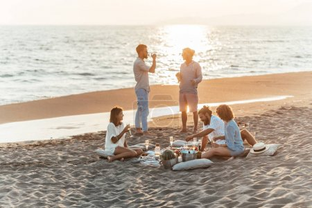 Friends Having Party on the Beach