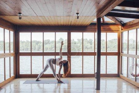 Woman Doing Yoga Asana