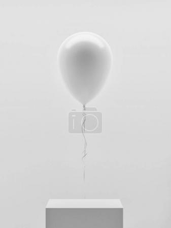 Copy space blank balloon in exhibition stand, 3d render, 3d illustration